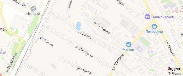 Улица Гоголя на карте Усмани с номерами домов