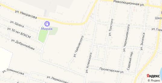Улица Чайковского в Усмани с номерами домов на карте. Спутник и схема онлайн