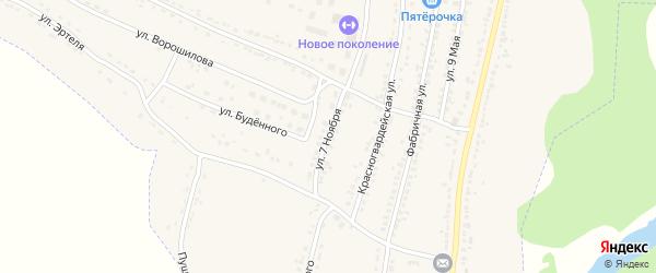 Улица 7 Ноября на карте Усмани с номерами домов