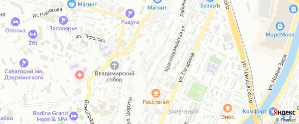 Гуковский переулок на карте Сочи с номерами домов