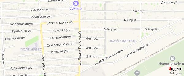 4-й проезд на карте Усть-Лабинска с номерами домов