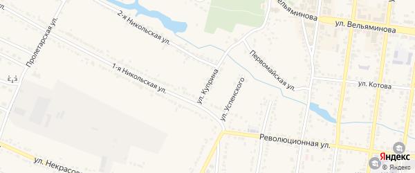 Улица Куприна на карте Усмани с номерами домов