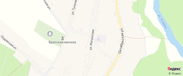 Улица Матросова на карте Усмани с номерами домов