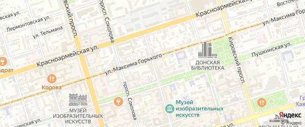 Проспект Чехова на карте Ростова-на-Дону с номерами домов