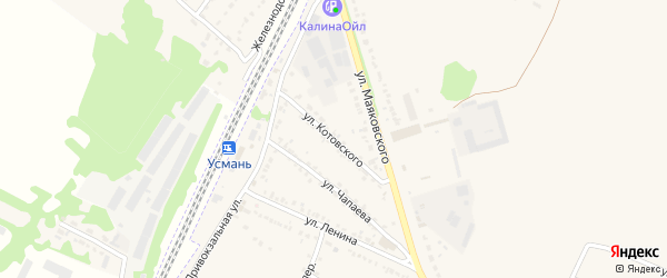 Улица Котовского на карте Усмани с номерами домов