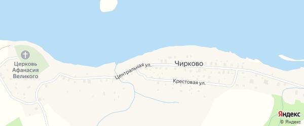 Центральная улица на карте деревни Чирково Вологодской области с номерами домов