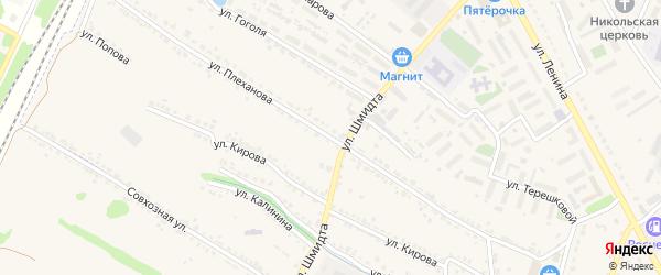 Улица Плеханова на карте Усмани с номерами домов