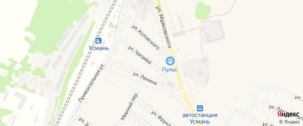 Улица Чапаева на карте Усмани с номерами домов