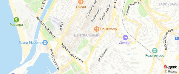 СНТ Полиграфист на карте Сочи с номерами домов