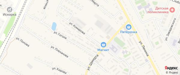 Улица Комарова на карте Усмани с номерами домов