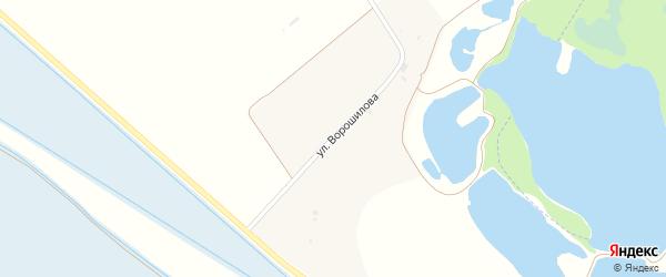 Улица Ворошилова на карте хутора Пустоселова с номерами домов
