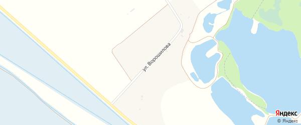 Улица Ворошилова на карте хутора Пустоселова Адыгеи с номерами домов