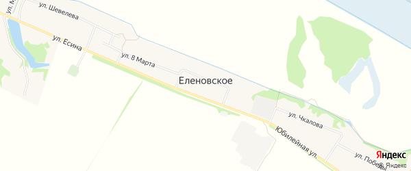 Карта Еленовского села в Адыгее с улицами и номерами домов