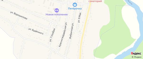 Фабричная улица на карте Усмани с номерами домов