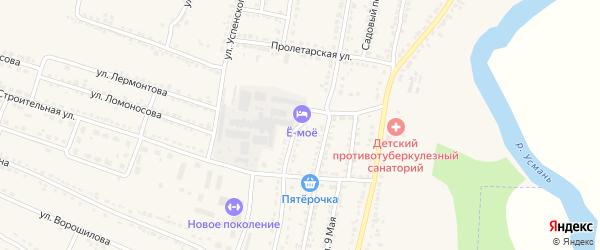 Улица Мичурина на карте Усмани с номерами домов