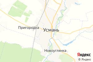 Карта г. Усмань Липецкая область