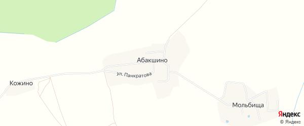 Садовое товарищество СТ Южный на карте деревни Абакшино Вологодской области с номерами домов