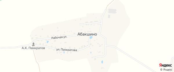 Молодежная улица на карте деревни Абакшино Вологодской области с номерами домов