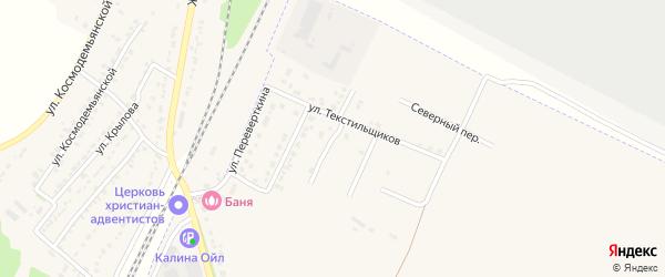 Весенняя улица на карте Усмани с номерами домов