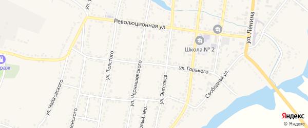 Улица М.Горького на карте Усмани с номерами домов