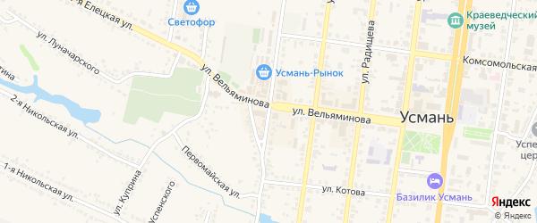 Улица Чернышевского на карте Усмани с номерами домов