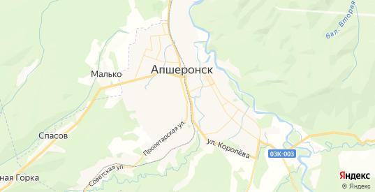 Карта Апшеронска с улицами и домами подробная. Показать со спутника номера домов онлайн