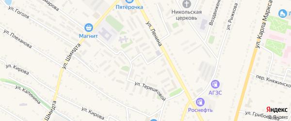 Школьная улица на карте Усмани с номерами домов