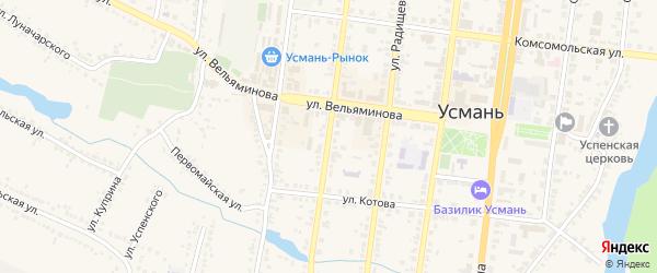 Улица Ф.Энгельса на карте Усмани с номерами домов