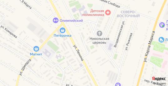 Улица 60 лет Победы в Усмани с номерами домов на карте. Спутник и схема онлайн
