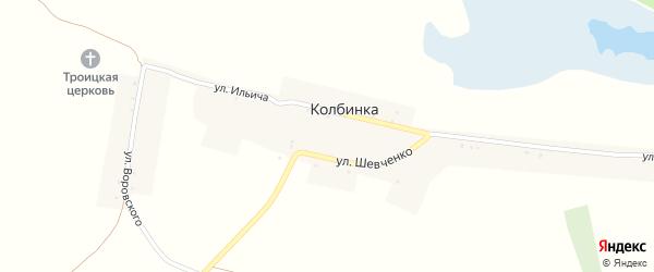 Улица Воровского на карте села Колбинки Воронежской области с номерами домов
