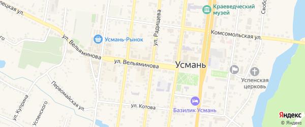 Улица Воеводы Вельяминова на карте Усмани с номерами домов