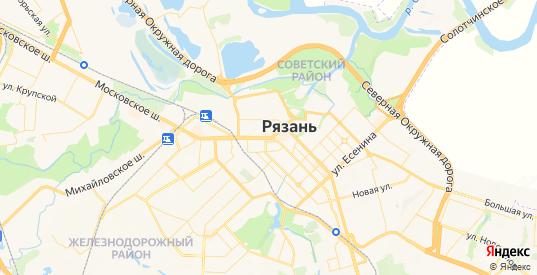 Карта Рязани с улицами и домами подробная. Показать со спутника номера домов онлайн