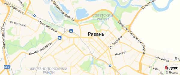 Карта Рязани с районами, улицами и номерами домов