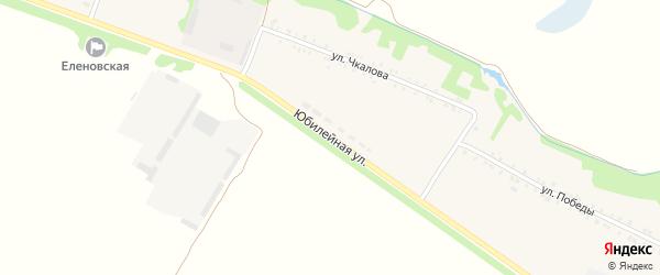 Юбилейная улица на карте Еленовского села с номерами домов