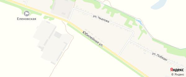 Юбилейная улица на карте Еленовского села Адыгеи с номерами домов