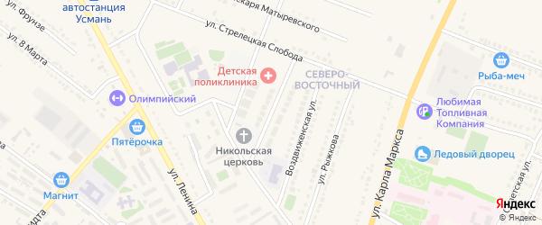 Улица Завадовского на карте Усмани с номерами домов