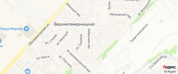 Небесный переулок на карте Верхнетемерницкого поселка Ростовской области с номерами домов