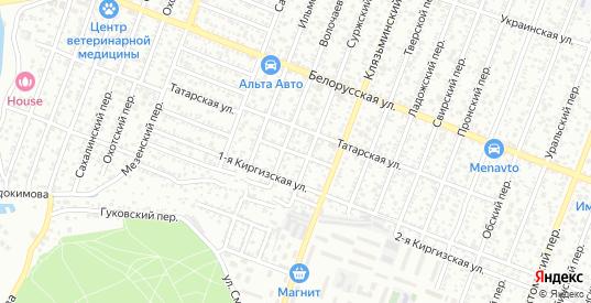 Дербентский переулок в Ростове-на-Дону с номерами домов на карте. Спутник и схема онлайн