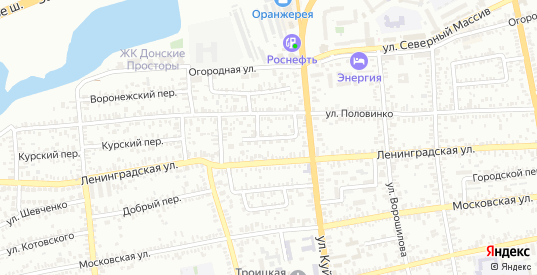 Таганрогский переулок в Батайске с номерами домов на карте. Спутник и схема онлайн