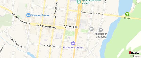 Площадь Ленина на карте Усмани с номерами домов