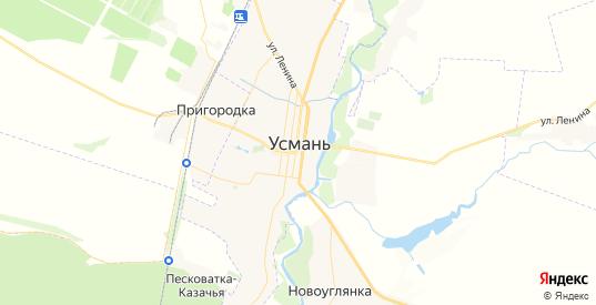 Карта Усмани с улицами и домами подробная. Показать со спутника номера домов онлайн