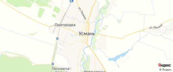 Карта Усмани с районами, улицами и номерами домов