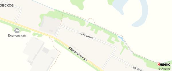 Улица Чкалова на карте Еленовского села Адыгеи с номерами домов