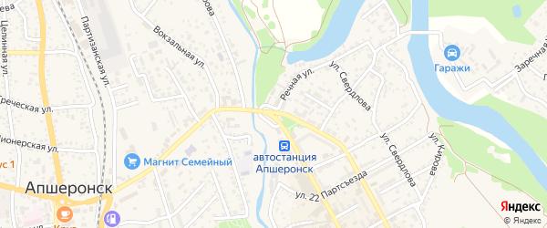Теплый переулок на карте Апшеронска с номерами домов