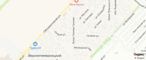 Бульвар Галилео Галилея на карте Верхнетемерницкого поселка Ростовской области с номерами домов