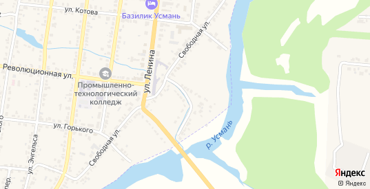 Улица Местечко Коммуны в Усмани с номерами домов на карте. Спутник и схема онлайн