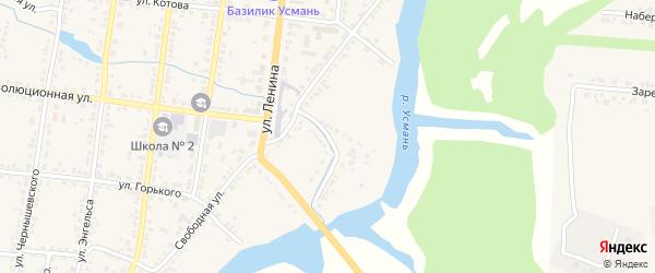Улица Местечко Коммуны на карте Усмани с номерами домов