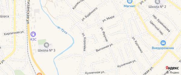 Улица Надежды на карте Апшеронска с номерами домов