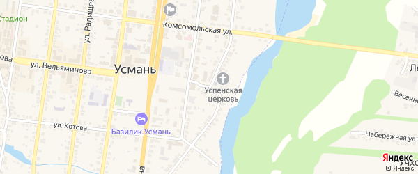 Свободная улица на карте Усмани с номерами домов
