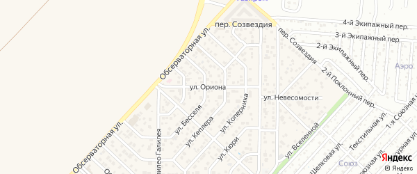 Улица Ориона на карте Верхнетемерницкого поселка Ростовской области с номерами домов
